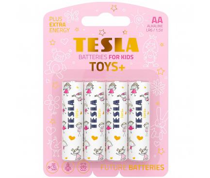 Baterie Tesla Batteries Toys+ Girl, AA / LR6 / 1.5V, Set 4 bucati, Alcalina, Blister