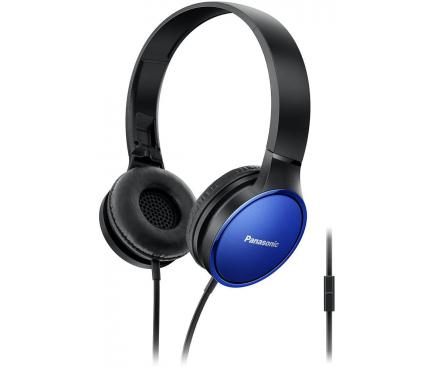 Handsfree Casti On-Ear Panasonic RP-HF300ME-A, Cu microfon, 3.5 mm, cu banda, Albastru PNS00164