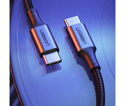 Cablu Date si Incarcare USB Type-C la USB Type-C UGREEN, 2 m, 5A, 100W, Gri