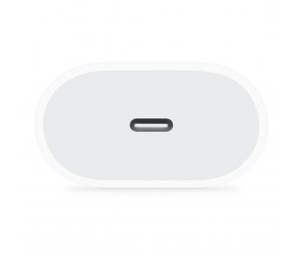 Incarcator Retea USB OEM, 1 X USB Tip-C, 18W, Alb