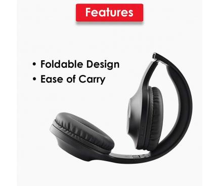 Handsfree Casti Bluetooth Lenovo HD116, Extra Bass 300H, Negru