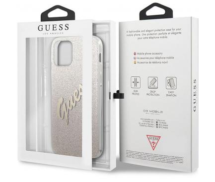Husa Plastic - TPU Guess Vintage pentru Apple iPhone 12 mini, Aurie GUHCP12SPCUGLSGO