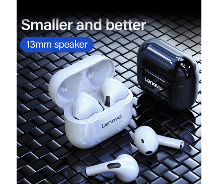 Handsfree Casti Bluetooth Lenovo LivePods LP40, SinglePoint, Alb