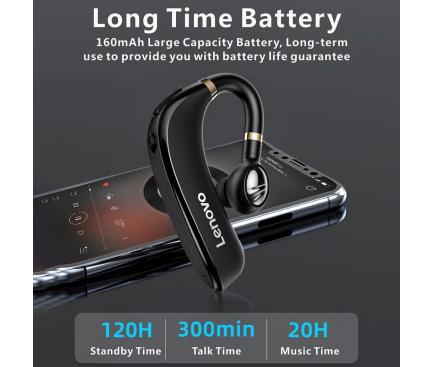 Handsfree Casca Bluetooth Lenovo HX106, Multipoint, Negru