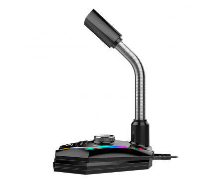 Microfon cu cablu HAVIT GK56, Gaming, RGB, Negru