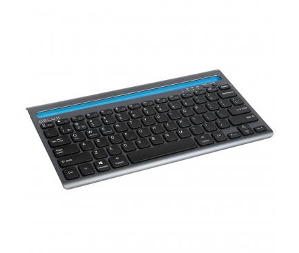 Tastatura Wireless Delux K2201V, Dual Mode Bluetooth, Neagra