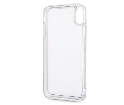 Husa Plastic - TPU Guess California Glow in the dark pentru Apple iPhone XS Max, Rosie GUHCI65GLCRE