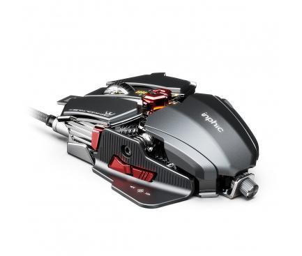 Mouse Wired USB Inphic PG6, Gaming, RGB, Argintiu Rosu