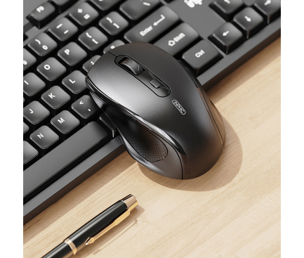 Kit Tastatura Mouse Wireless Inphic V790, Negru