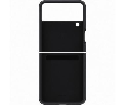 Husa Piele Samsung Galaxy Z Flip3 5G, Leather Cover, Neagra EF-VF711LBEGWW