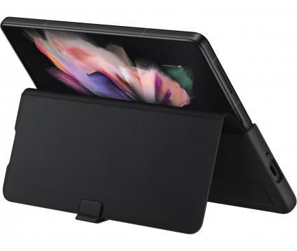 Husa Piele Samsung Galaxy Z Fold3 5G, Leather Flip Cover, Neagra EF-FF926LBEGWW