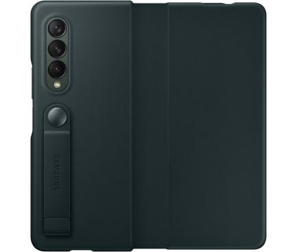 Husa Piele Samsung Galaxy Z Fold3 5G, Leather Flip Cover, Verde EF-FF926LGEGWW