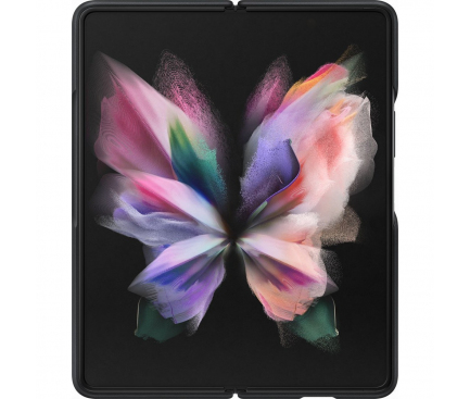 Husa Piele Samsung Galaxy Z Fold3 5G, Leather Cover, Neagra EF-VF926LBEGWW