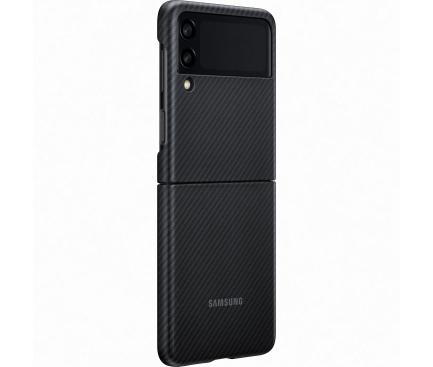 Husa Fibra Aramida Samsung Galaxy Z Flip3 5G, Neagra EF-XF711SBEGWW
