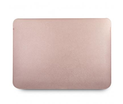 Husa Laptop Guess Saffiano, 13 inci, Roz GUCS13PUSASPI