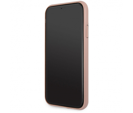 Husa Plastic - TPU Guess 4G Metal Logo pentru Apple iPhone 11, Roz GUHCN614GMGPI