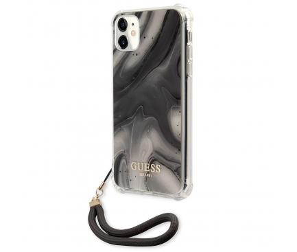 Husa Plastic - TPU Guess Marble pentru Apple iPhone 11, Gri GUHCN61KSMAGR