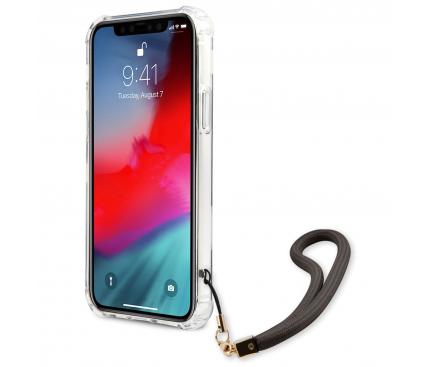Husa Plastic - TPU Guess Marble pentru Apple iPhone 12 / Apple iPhone 12 Pro, Gri GUHCP12MKSMAGR