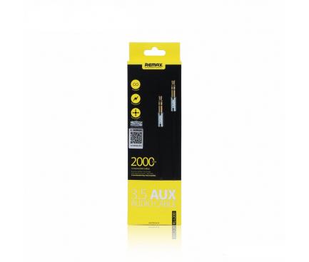 Cablu Audio 3.5 mm la 3.5 mm Remax L200, 2 m, TRS-TRS, Negru