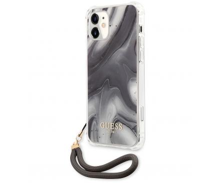 Husa Plastic - TPU Guess Marble pentru Apple iPhone 12 mini, Gri GUHCP12SKSMAGR