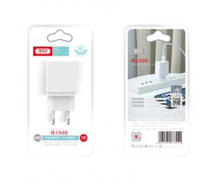 Incarcator Retea USB XO Design L75, 2.4A, 2 X USB, Alb