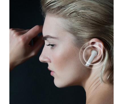 Handsfree Casti Bluetooth Haylou GT6 TWS, SinglePoint, Alb