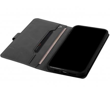 Husa Piele UNIQ Journa pentru Apple iPhone 12 / Apple iPhone 12 Pro, Neagra