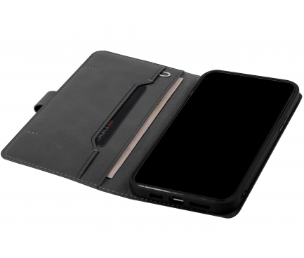 Husa Piele UNIQ Journa pentru Apple iPhone 12 Pro Max, Neagra