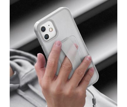 Husa TPU UNIQ Heldro DE pentru Apple iPhone 12 mini, Antibacterian, Transparenta