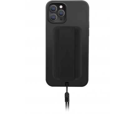 Husa TPU UNIQ Heldro DE pentru Apple iPhone 12 / Apple iPhone 12 Pro, Antibacterian, Neagra