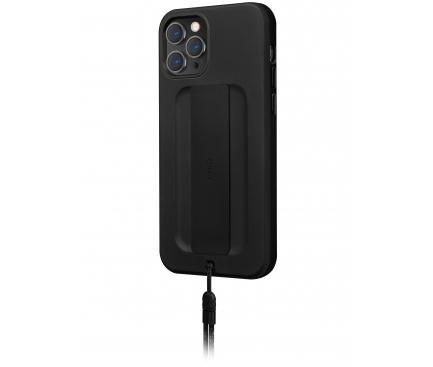 Husa TPU UNIQ Heldro DE pentru Apple iPhone 12 Pro Max, Antibacterian, Neagra