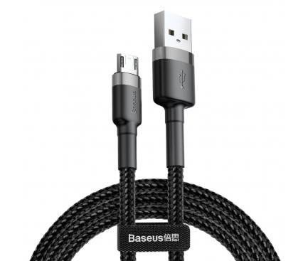 Cablu Date si Incarcare USB la MicroUSB Baseus Cafule, 3 m, 2A, Negru Gri CAMKLF-HG1
