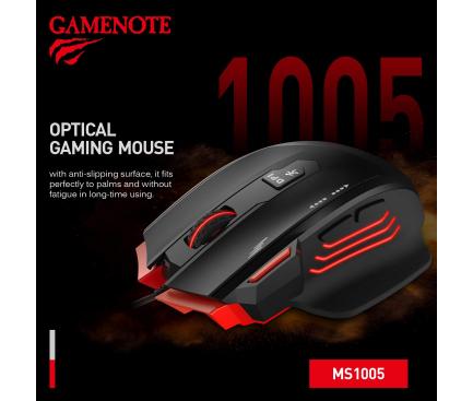 Mouse Wired USB HAVIT MS1005, GAMENOTE, RGB, Negru