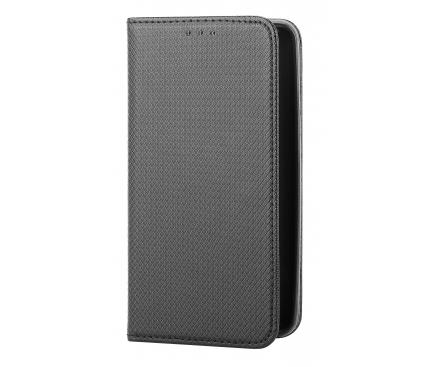 Husa Piele OEM Smart Magnet pentru Oppo Reno6 Pro+ 5G, Neagra