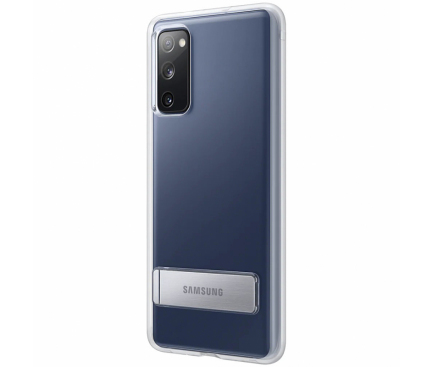 Husa TPU Samsung Galaxy S20 FE, Standing Cover, Transparenta EF-JG780CTEGWW