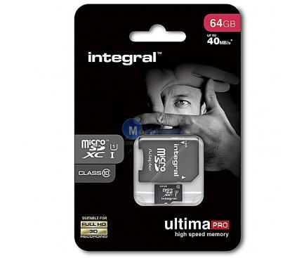 Card memorie Integral UltimaPRO MicroSDXC 64GB Clasa 10 Blister