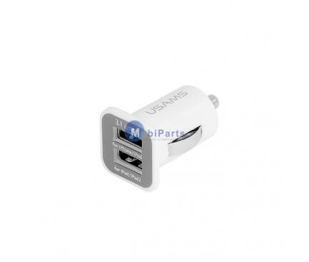 Adaptor auto Dual USB 3.1A Smart alb