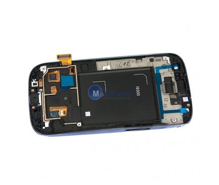 Display cu touchscreen si rama Samsung I9300 Galaxy S III bleumarin