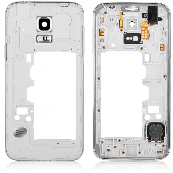 c33f6c4c070 Carcasa mijloc Samsung Galaxy S5 mini G800 argintie | GSMnet.ro