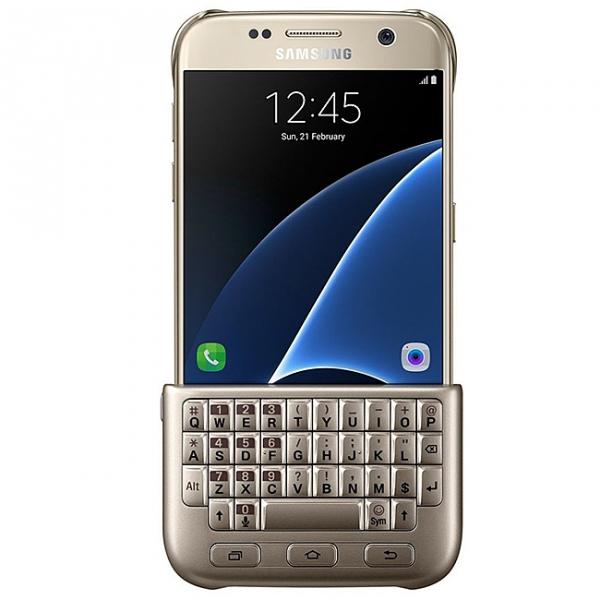 9beea4b6c1e Husa plastic Samsung Galaxy S7 G930 Keyboard Cover EJ-CG930UFEGDE Aurie  Blister Originala