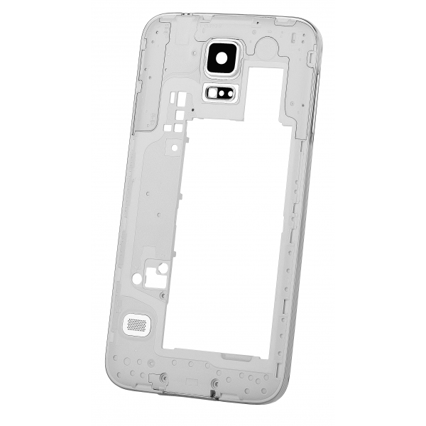 4812061da34 Carcasa mijloc Samsung Galaxy S5 G900 argintie Swap | GSMnet.ro