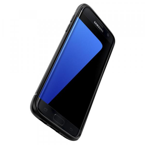 06433562c09 Husa TPU Spigen Rugged Armor Pentru Samsung Galaxy S7 edge G935, Neagra,  Blister 556CS20033