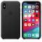 Husa Piele Apple iPhone XS Max, Neagra, Blister AP-MRWT2ZM/A