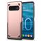Husa Plastic OEM Rugged Armor pentru Samsung Galaxy S10+ G975, Roz Aurie, Bulk