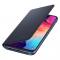 Husa Samsung Galaxy A50 A505, Wallet Cover, Neagra, Blister EF-WA505PBEGWW