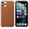 Husa Piele Apple iPhone 11 Pro Max, Maro, Blister MX0D2ZM/A