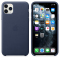 Husa Piele Apple iPhone 11 Pro Max, Bleumarin, Blister MX0G2ZM/A