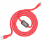 Cablu Date si Incarcare USB la MicroUSB HOCO SELECTED Timing S4, 1.2 m, Rosu, Blister