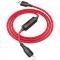 Cablu Date si Incarcare USB la Lightning HOCO Timing S13, 1.2 m, Rosu, Blister