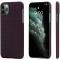 Husa Fibra Aramida Pitaka MagEZ pentru Apple iPhone 11 Pro, Car Case Magnet, Tesatura patrata (Plain), Neagra Rosie, Blister KI1104